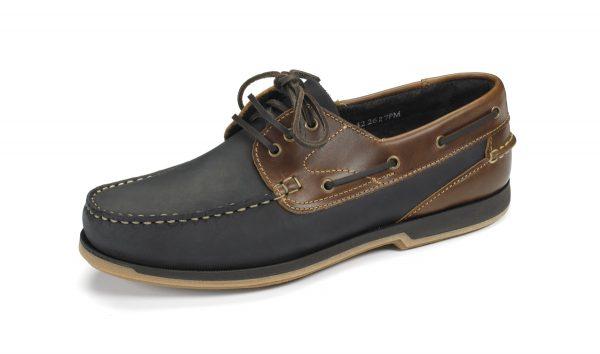 Loake 521 Navy Nubuck/Brown Waxy Leather-0