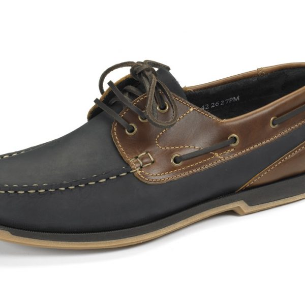 Loake 521 Navy Nubuck/Brown Waxy Leather-0