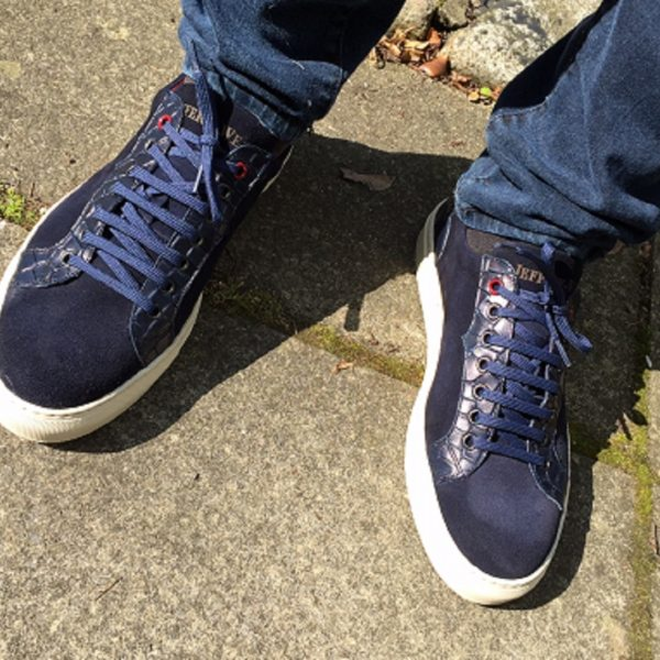 Jeffery West Apolo Navy Suede-0